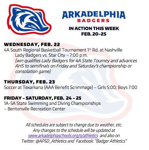 895f2c5fb66f90 This Week in APSD Athletics  Feb. 20-25