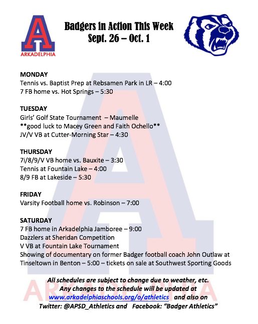 4fcf4e7b78640f This Week in APSD Athletics