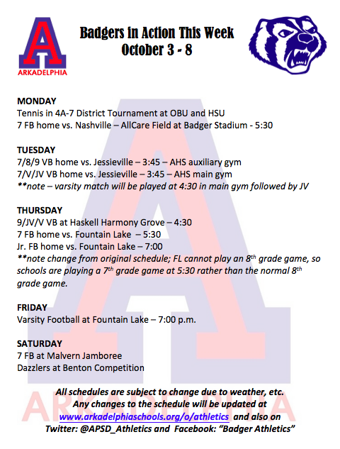 8d4f312bd6244c This Week in APSD Athletics  October 3-8