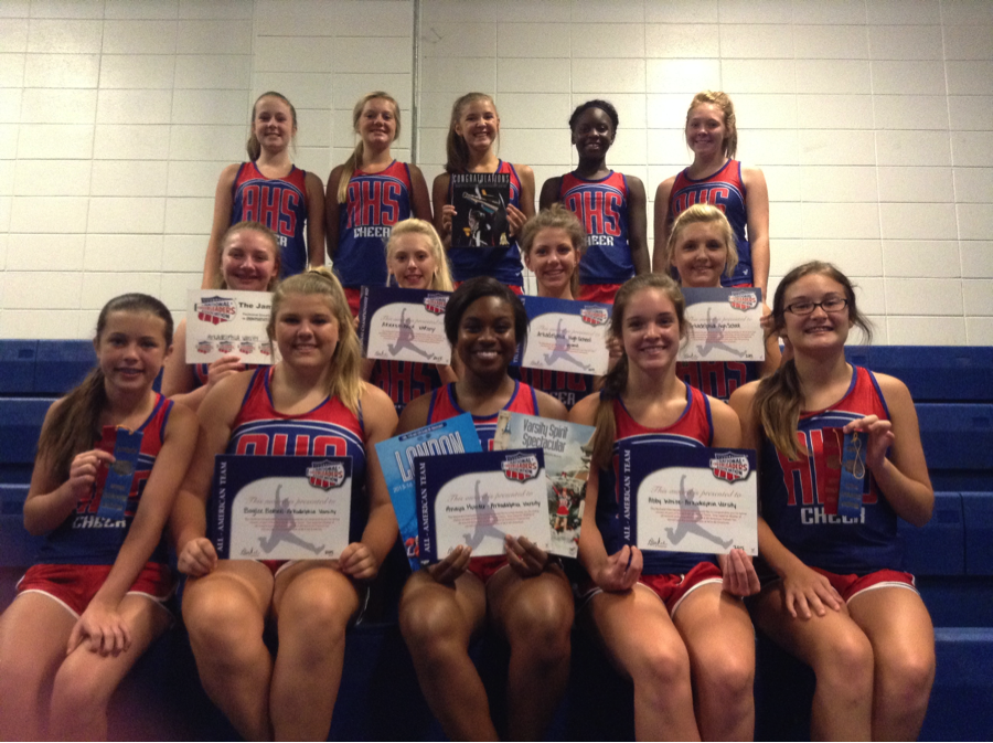 Varsity cheerleading attends NCA Performance Camp